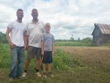 (L-R) Karl Jr, Karl Sr, and Jayden Vahrmeyer at Farm in Huron Shores.