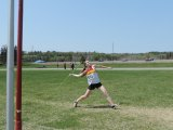 Jenna Fleming wins first in Senior Girls Javelin.