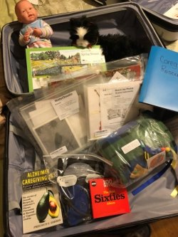 Dementia kit contents that can be used at Day Out programs or signed out by caregivers.