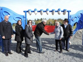 Playground Ribbon Cutting at CAES