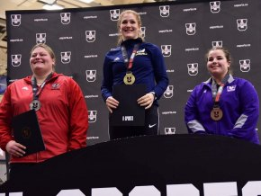 (L-R)Kaitlyn Brooks (Silver), Sarah Mitton (Gold) Emily Good (Bronze)
