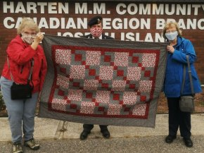 Picture (left to right) is Carol Smith, R.C.L. Br. 374 Secretary Mark Trainor and Brenda Southward.