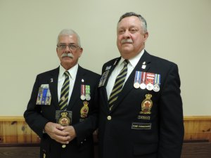 Lifetime Member Award presented to Comrade Steve Frech (L) by Zone Commader Sandy Ross (R).