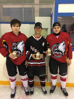 Skills competition winners-Austin Mortimore (L), Jack McLeod (C), Mack Ableson (R)