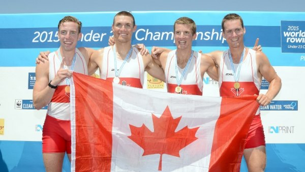 Canadian crew on top of the podium.