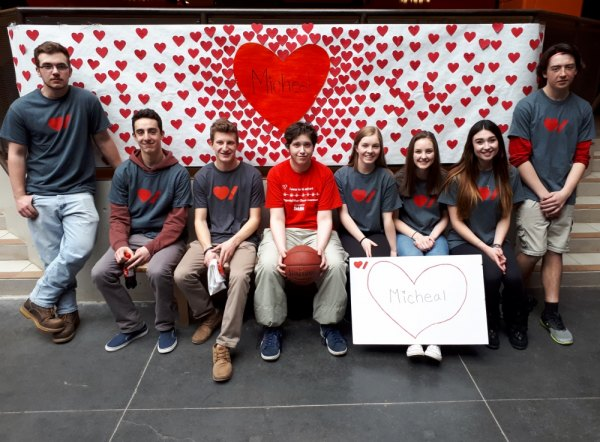 Hoops for Heart Support CASS Student