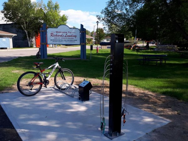 Cycling Station Installed at Waterfront