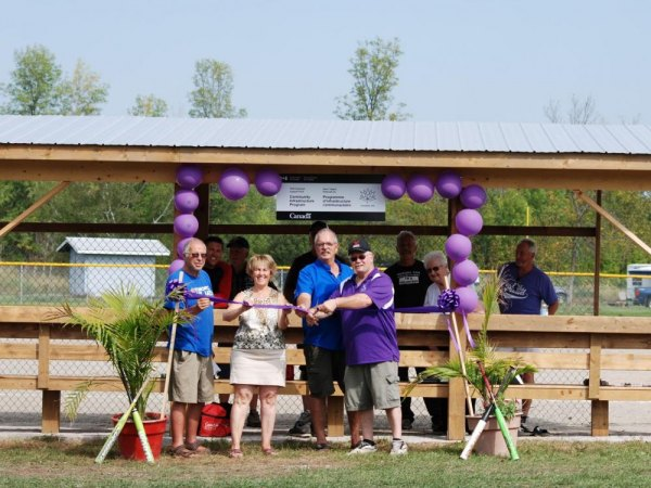 Ribbon Cutting at Echo Bay Elks Ballfield