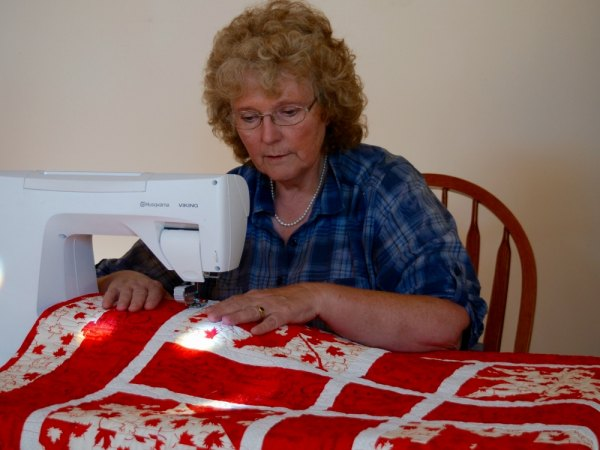 Island Quilter Creates Quilt of Valour