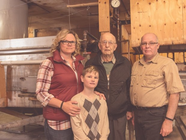 4 generations of Kent family at 100th anniversary celebration.